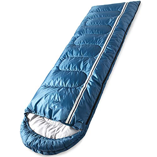 Sleeping Bag Extra Large Pod Design Perfect for Camping, Sleepovers and Festivals – Lightweight Single Bags Suitable for Adults and Juniors Blue 1.8kg