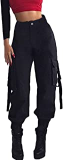Shallood Donna Hip Hop Baggy Pantaloni Cargo Pants Sciolto Moda Pantaloni Sportivi Casual Harem Pantaloni da Jogging Stree...