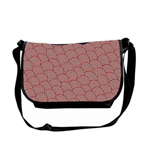 Hdadwy Totem Of Small Waves Messenger Bag Unisex Casual Bag Lightweight Adjustable Commuter Single Shoulder Bag