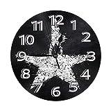 FETEAM Reloj de Pared Libros, Películas, TV Hamilton Relojes de Pared Funciona con Pilas Silencioso Decoración Pared para Cocina, Salon, Oficina, Dormitorio 25cm