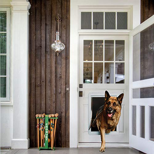 """Ideal Pet Products Designer Series Plastic Pet Door with Telescoping Frame, Super Large, 15"""" x 20"""" Flap Size"""