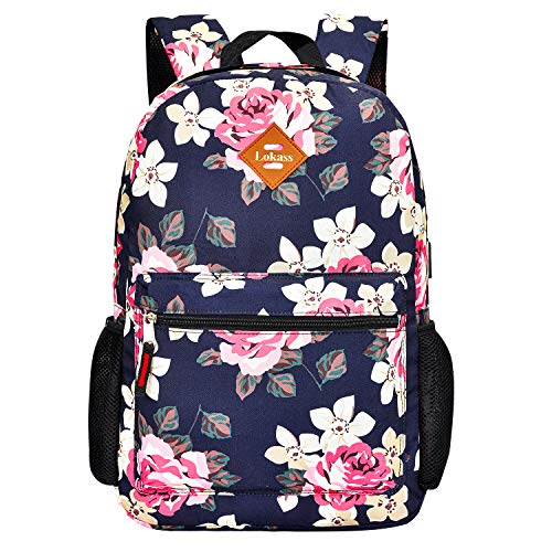 CoolBELL Backpack Casual Daypack Student Book Bag Water-Resistant Travel Backpack Multipurpose 15.6 Inches Laptop Backpack for Men/Women (Peony)