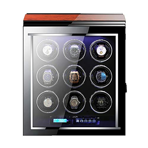 Mira La Cuerda para 9 Relojes Automáticos Pantalla LCD Táctil con Mando...