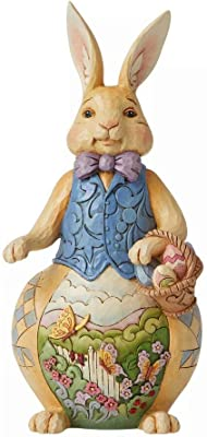 Enesco Jim Shore Heartwood Creek Easter Bunny with Scene Figurine