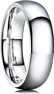 کینگ ویل پایه مردانه 2mm 4mm 6mm 8mm 9mm 9mm کلاسیک بالا مخزن تنگستن / تیتانیوم / سیلیکون تنگستن مجموعه حلقه عروسی فلزی