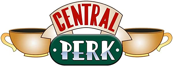 48 Central Perk 1 Friends Coffee Shop Logo Sign Removable Fabric Vinyl Wall Sticker