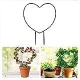 Qiraoxy 4 Stück Spalier zum Klettern Pflanzen Metall Stützgitter zum Klettern Blumengemüse Rose...