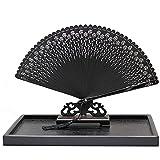 FCBF Ventilador Plegable de la Mano Vintage Plegable Fans de Las señoras Fans de la señora Danza bambú de bambú Ventilador Plegable Ventilador Plegable japonés (Color : E)