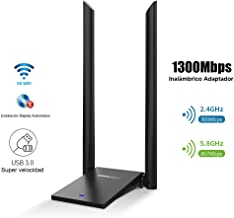 JOOWIN Adaptador WiFi USB Doble Banda 1300Mbps (5Ghz 867Mbps 2.4Ghz 400Mbps), USB 3.0 para PC/Desktop/Laptop Windows10 /8/8.1/7 /XP