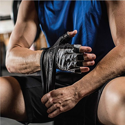 Harbinger BioForm Wristwrap Weightlifting Glove with Heat-Activated Cushioned Palm (Pair), Medium