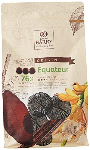 CACAO BARRY 76% Min Cacao Chocolat Equateur Pistoles 1 kg