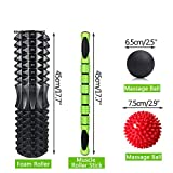 YCLOTH Yoga-Trainingsset, Yoga-Säule, Muskelachse, Yoga, Bar, Skinny Roller Massage-Set