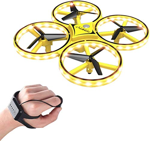 3T6B Hand Gesture Controlled Drones, Mini Drone Gravity Sensing Hand Sensor Drone for Children with Smart Watch Controlled Hand Control Mini Drone