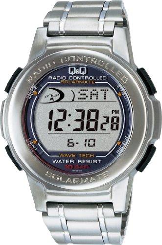 [シチズン Q&Q] 腕時計 デジタル 電波 ソーラー 防水 日付 メタルバンド MHS5-200 メンズ シルバー