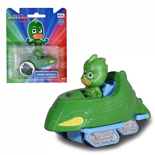 Pyjamahelden PJ Masks Auswahl Fahrzeuge mit Figur | Die Cast Dickie Toys, Action Figuren:Gecko