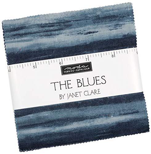 The Blues Charm Pack by Janet Clare; 100-15 pollici pretagliato tessuto trapunta quadrati