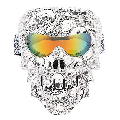 Qii lu Motorradbrille Helm Maske Reiten Ski Schädel Winddicht Sanddicht Brille(H113)