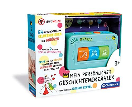Clementoni 59202 Geschichtenerzähler, interaktive Audio-Unterhaltung, für Kinder ab 3 Jahren, spannende Gute Nacht Geschichten, individuelle Lieblingsgeschichten