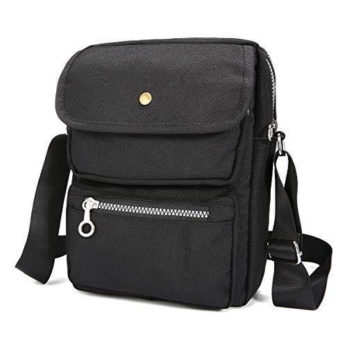 Nylon Shoulder Bag Unisex Messenger Bag for Men Women, JOSEKO Crossbody Bag...