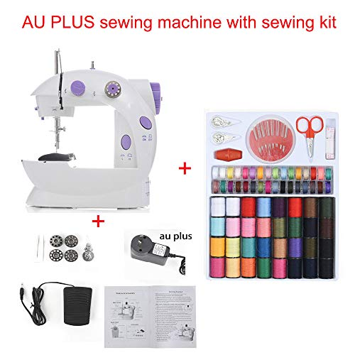New Electric Mini Sewing Machine Home Hand Machine To Sew Speed Adjustment Light Handheld Sewing Machine Table and Kit