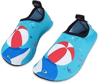 Water Shoes Chaussons Aquatiques Enfant, Chaussures de Plage de Mer de Piscine Sandales