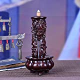 Wenju Artigianato Tradizionale in Ebano 12 Zodiaco Intaglio del Legno bruciatore di incenso Longta Home Office Ornamenti Zen