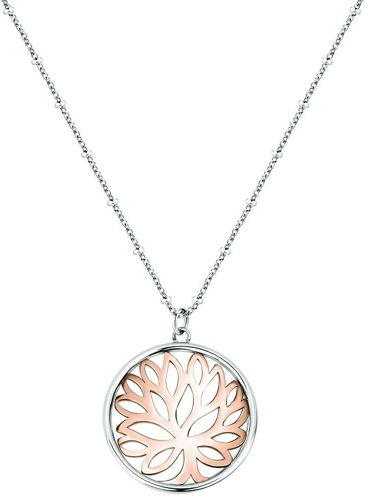 Morellato, collana da donna, collezione loto, in acciaio,con pendente SATD05