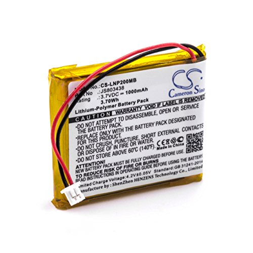 vhbw Li-Polymer Akku 1000mAh (3.7V) für Babyphone Babyfone Babytalker wie Luvion JS803438