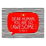 Happy Jackson Dear Human You Are so Awesome Pet Feeding Mat