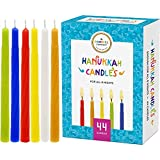 The Dreidel Company Menorah Candles Chanukah Candles 44 Colorful Hanukkah Candles for All 8 Nights of Chanukah (Single-Pack)