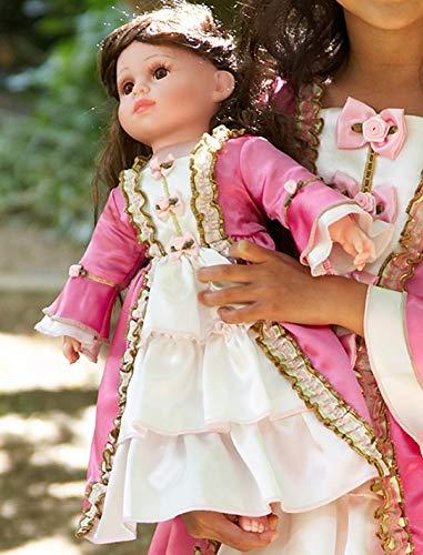 amscan- Marie Antionette Vestido, Color Rosa Medio, 1ct (Doll-MA)