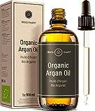 Puro aceite de argán 100% orgánico para pelo - piel, cuerpo y uñas, hidratante anti envejecimiento humectante antiarrugas 100ml