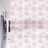 Vinilo Película de Ventana Privacidad Pegatina Decorativas para Translucido para Cristal Película Decorativa Electrostática Anti-UV para Hogar Cocina Baño y Oficina (Rosa 44.5 x 300 cm)