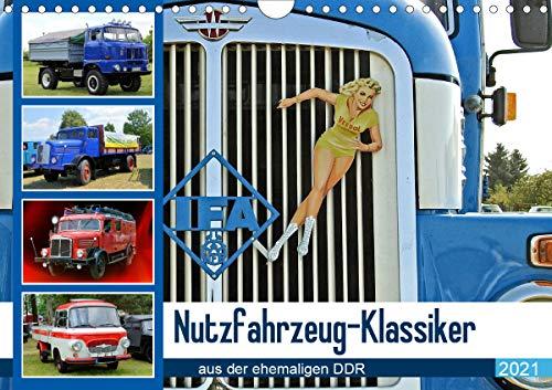 Nutzfahrzeug-Klassiker aus der ehemaligen DDR (Wandkalender 2021 DIN A4 quer)