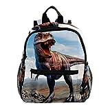 Sac à Dos pour Enfant Maternelle Science Fiction Dinosaure Cartable Fille Primaire Sac à Dos Enfant Scolaire en étanche 25.4x10x30 CM