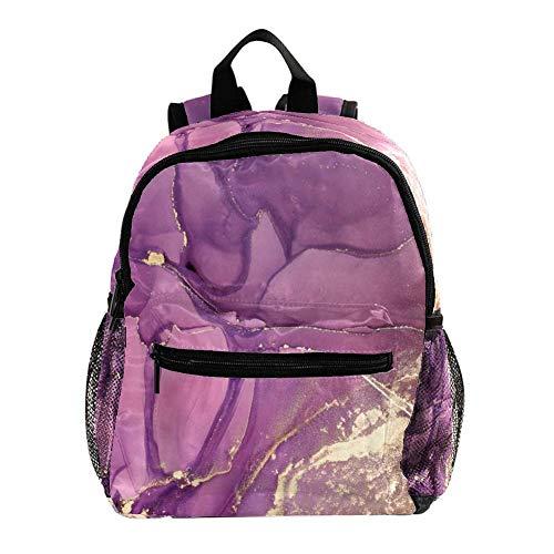 Mochila Escolar Infantil Romance Abstracto púrpura Niña bebé Linda Mochila de jardín de Infantes Mochila Escolar para niños Mochila 25.4x10x30 CM