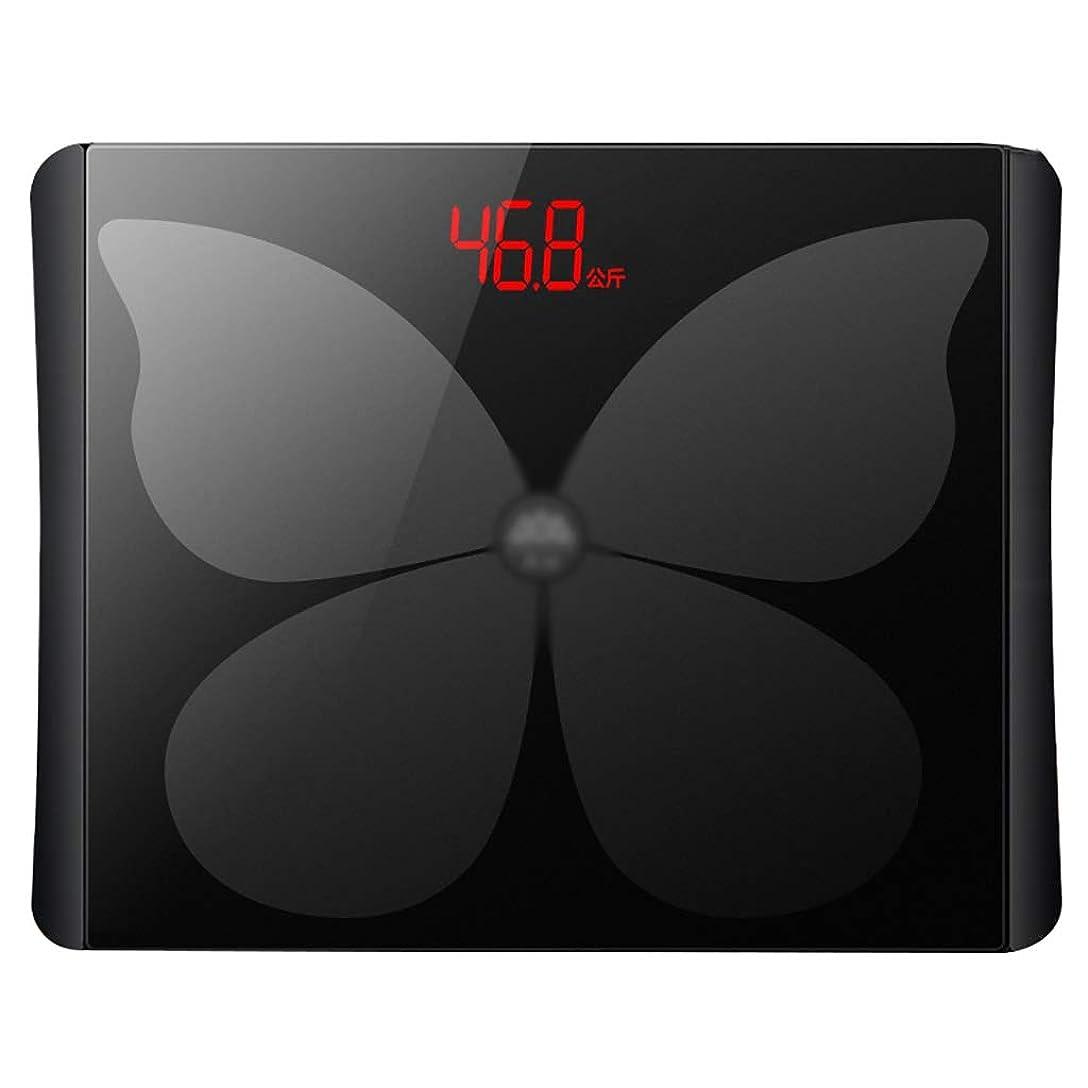 ジャングルブーム飢えたLED表示が付いている重量スケールの緩和されたガラスの電子スケールは理性的な健康ボディスケール電池が付いていることができます150kg(30.8x24.3x2cm)