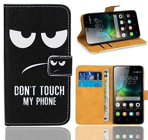 FoneExpert® Huawei G Play Mini / Honor 4C Handy Tasche, Wallet Hülle Flip Cover Hüllen Etui Ledertasche Lederhülle Premium Schutzhülle für Huawei G Play Mini / Honor 4C (Pattern 15)