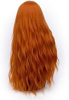 FHKGCD 70 Cm Longue Ondulée Violet Perruque Cosplay Perruques De Cheveux Synthétiques pour Les Femmes Fibre Haute Température