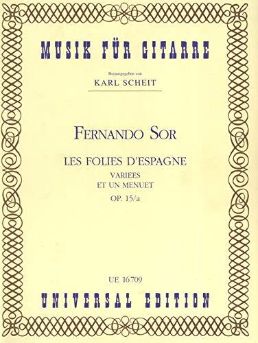 Les Folies d'Espagne Op 15 a. Gitarre