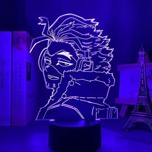 HSHHJSH Lámpara 3D para Dormitorio Decoración Regalo de cumpleaños Manga Gadget My Hero ACA-de-MI-A Keigo Tak-ami Light (Color : 16 Color with Remote)