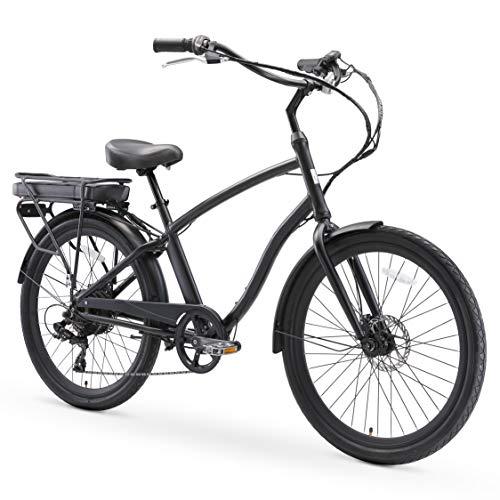 sixthreezero EVRYjourney Men's Hybrid Alloy Beach Cruiser Bicycle eBike 500W Electric Bike, 26-Inch