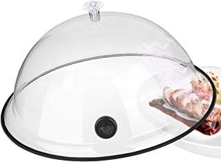 TMKEFFC Smoking Cloche Dome Cover 10 Inches Lid for Plates, Bowls and Glasses, Smoker Gun Smoking...