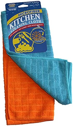 Atlas Microfiber Square Kitchen Cleaning Cloth Blue - 12-Pack
