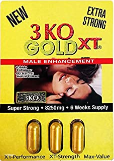 3 KO Gold XT 2750mg 3 Pills Pack 8250 mg Extra Strong Male Enhancement Pill 6 Weeks Supply