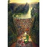 Puzzles Madera Rompecabezas Estantería Dam, Entretenimiento DIY Juguetes For Regalo Creativo Decoración, 500/1000/1500/2000/3000/4000/5000/6000 Piezas 0718 (Color : A, Size : 500 Pieces)