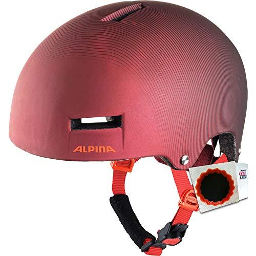 Alpina+TipTop Fahrradhelm Airtime Gr. 52-57cm + Flicken Indigo Cherry Drop