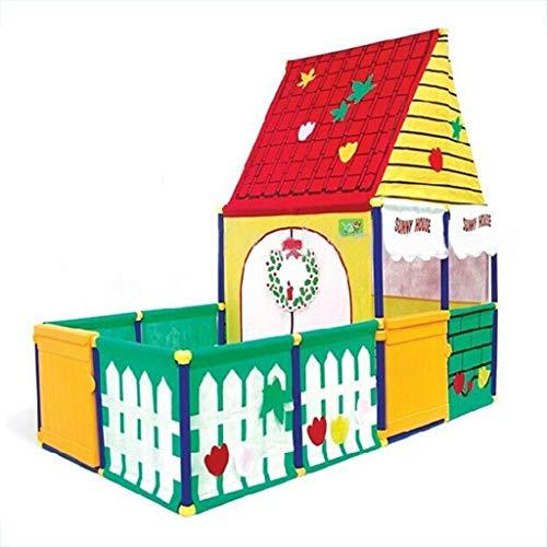Tents Zabawka do domu, domek z piłką dla dzieci, park rozrywki dla niemowląt i małych dzieci zamek ogród z basenem kulowym (rozmiar: 155 * 80 * 145 cm)