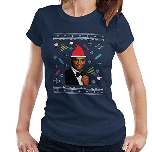 Fresh Prince of Bel Air Carlton Dance Christmas Knit Pattern Women's T-Shirt