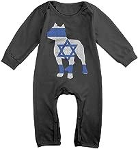 TYLER DEAN Newborn Baby Organic Coverall Patriotic Pitbull Israel Flag Baby Rompers